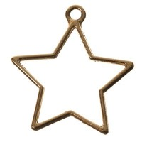 CM Metallanhänger Stern, 35 x 32 mm, goldfarben