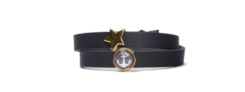 Armband mit Schiebeperlen Stern Gold