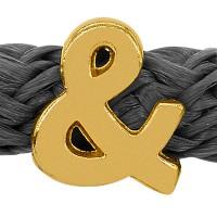 Grip-It Slider Satzzeichen &, für Bänder bis 5mm Durchmesser, vergoldet