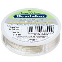 Beadalon 7 Strand, 0,38 mm, 9,2 m, Farbe: Metallic Silber,Schmuckdraht