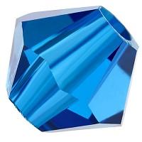 Preciosa Rondelle Bead/Bicone, 4 mm, capri blue