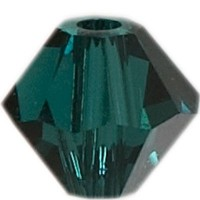 Swarovski Elements Bicone, 4 mm, emerald