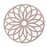 Metallanhänger Boho Rund filigran, 43 x 43 mm, rosa