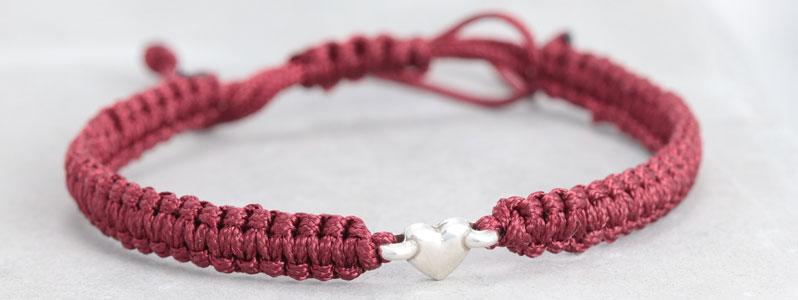 Makramee-Armband Herz