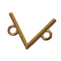 Metallanhänger V-Form, 14 x 10 mm, vergoldet