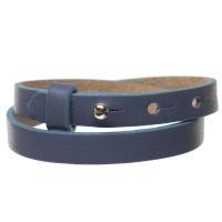 Milano Lederarmband für Sliderperlen, Breite 10 mm, Länge 39 - 40 cm, jeansblau