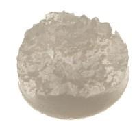 Cabochon aus Kunstharz, Druzy-Effekt , rund, Durchmesser 12 mm, grau