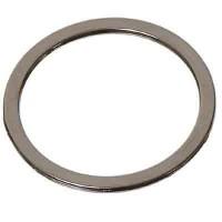 Metall-Element Ring flach, 15 mm silberfarben glänzend