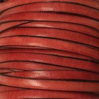 Breites Lederband, 5 mm x 1 mm, Länge 1 m, rot