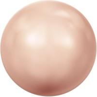 Swarovski Crystal Pearl, rund, 8 mm, Farbe rose gold