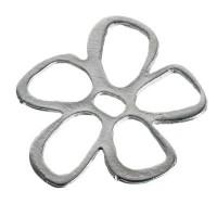 Metall-Element Blume, ca. 28 mm,versilbert