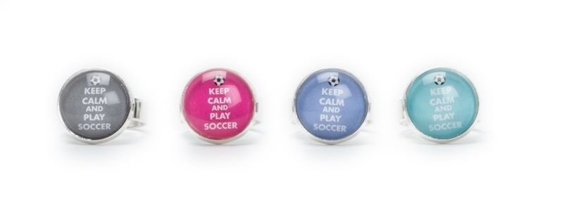 Keep Calm and Play Soccer Ringe