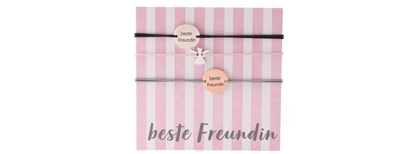 """Set Armbänder mit Coins """"Beste Freundin"""""""