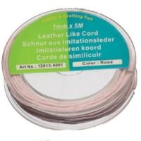 Rolle Baumwollband 1mm, Länge 5 m, rosa