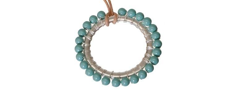 Anhänger mit Crystal Pearls Jade