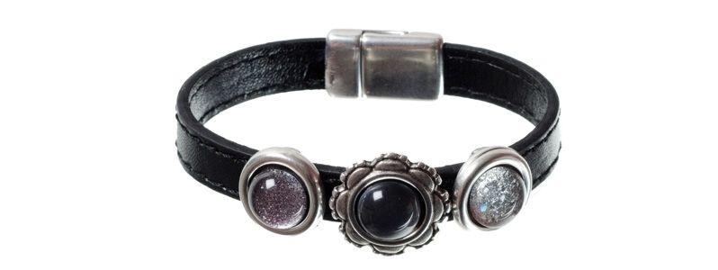Lack-Armband Schwarz