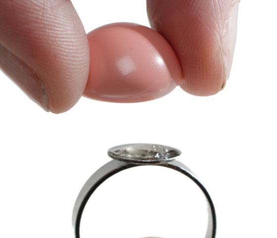 Ring mit Crystal Pearl Cabochon selber machen Schritt 3