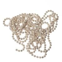 Kugelkette, diamantiert, Durchmesser 1,5 mm, Länge 1 m, weiß