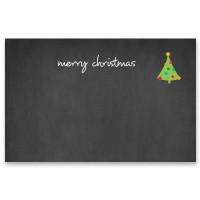 "Schmuckkarte ""Merry Christmas"", quer, schwarz, Größe 8,5 x 5,5 cm"