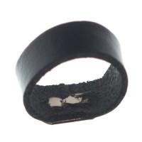 Berlin Lederband Schlaufe, 16 mm x 8 mm, schwarz
