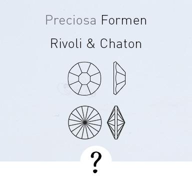 Rivoli, Chaton, Flatback - was ist was?