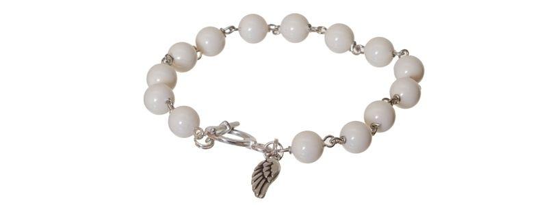 Armband mit Crystal Pearls Ivory
