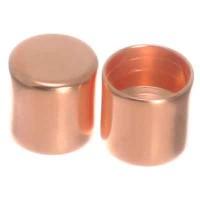Endkappe ohne Öse, Innendurchmesser 5 mm, 6 x 6 mm, rosevergoldet, geeignet für Segelseil
