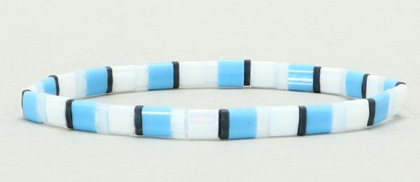 Elastisches Armband mit Tila-Perlen Mix Waves