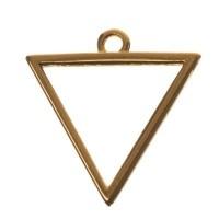 Metallanhänger Dreieck, 18 x 17 mm, vergoldet