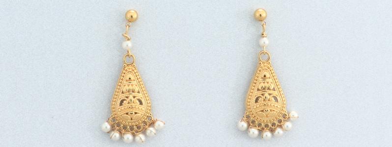 Ohrringe mit Nacre Perlen von Preciosa Ethno