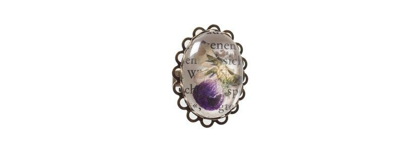 Blütenschmuckring Veilchen