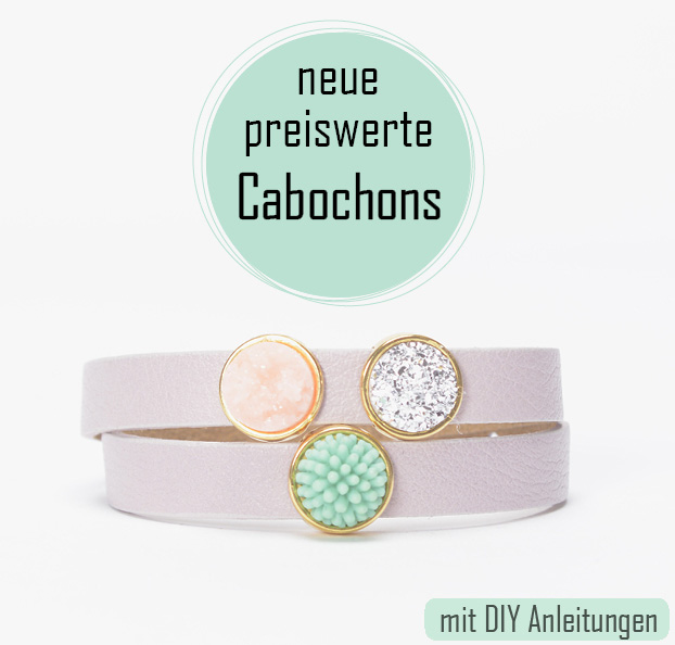 rosa Armband mit 3 Cabochons