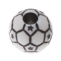 Plastikperle, Fußball, 12 mm