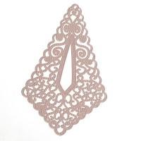 Metallanhänger Boho filigran, 65 x 40 mm, rosa