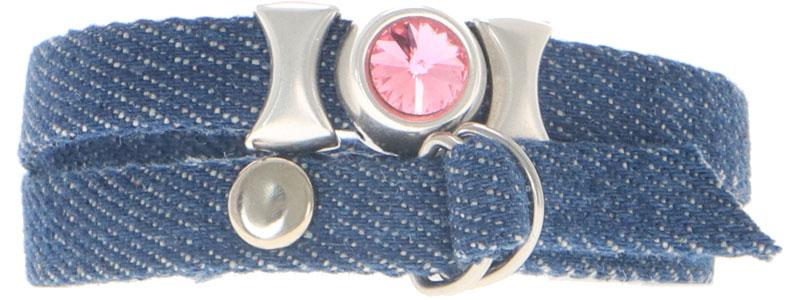 Breites Armband für Slider aus Jeansband D-Verschluss