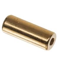 Metallperle Röhre, ca.11 x 4 mm, vergoldet