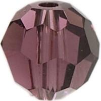 Swarovski Elements, rund, 6 mm, amethyst