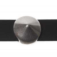 Metallperle Slider / Schiebeperle Spike, versilbert, ca. 13 mm