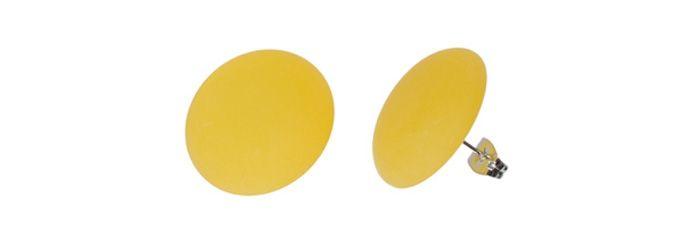 Ohrstecker Gelb groß