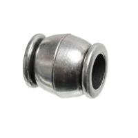 Magnetverschluss für Bänder bis 5 mm, Tonne, 11 x 10 mm, versilbert