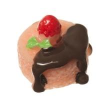 Kunststofffigur für Glaskugeln Dessert, 16 x 16 x 13 mm, rosa