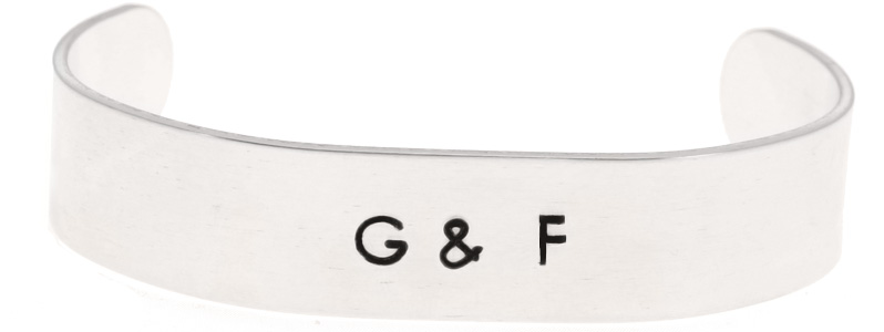 Metal Stamping Armreif Initialien