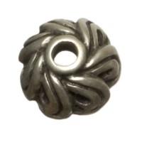 Metallperle Perlkappe, Durchmesser ca. 12 mm, versilbert