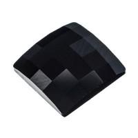 Swarovski Elements Chessboard Flat Back, 12 x 12 mm, jet