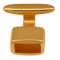 Hakenverschluss für Bänder mit 5 mm Durchmesser, vergoldet
