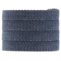 Denim Baumwollband, mitternachtsblau, 10 x 2 mm, Länge 1 m