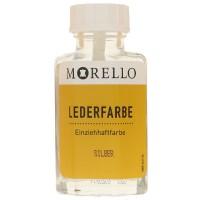 Morello Lederfarbe, Flasche mit Auftragepinsel, 40 ml,  Silber