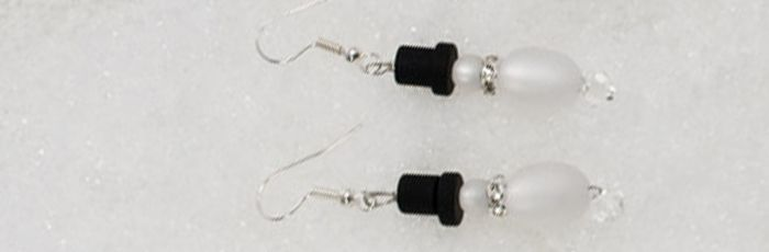 Schneemann-Ohrhänger