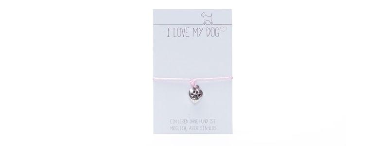 "Wunscharmband ""I Love My Dog"""