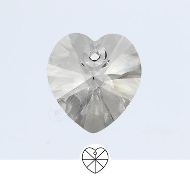 Preciosa 18 mm Heart Pendant